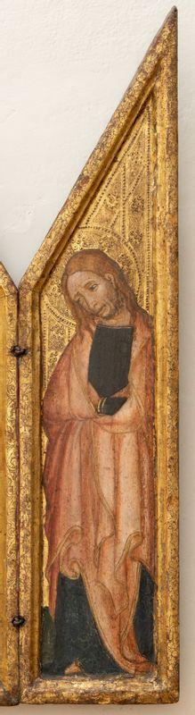 Triptych s mužem bolesti, levý panel – Panna Marie