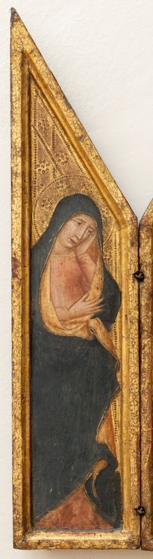 Triptych s mužem bolesti, pravý panel – Svatý Jan Evangelista